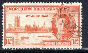 NORTHERN RHODESIA   1946 VICTORY issue   perf 13.5      used