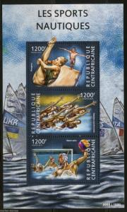 CENTRAL AFRICA 2015 WATER SPORTS  SHEET MINT NH