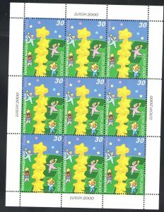 2000 Europa Cept Macedonia 1 Sheetlet 10 Val'Youths And Future MNH