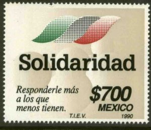 MEXICO 1656, SOLIDARITY, GOVERNMENT SOCIAL PROGRAM. F-VF MINT, NH. VF.