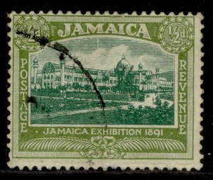 JAMAICA GV SG78, ½d green & olive-green, FINE USED.