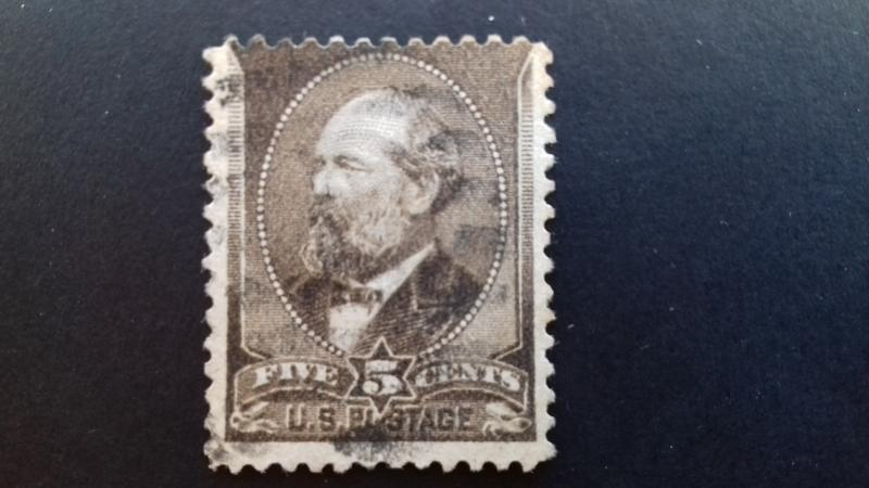 United States 1882 James A. Garfield, 1831-1881 5c Used