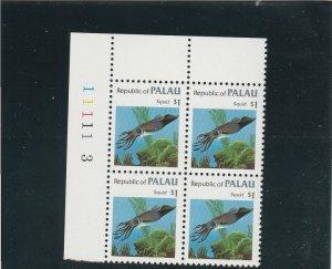 Palau  Scott#  19  MNH Block of 4  (1983 Squid)