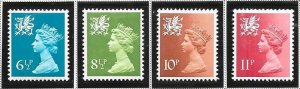 Great Britain-Wales & Monmouthshire # WMMH7,11,13 &15 (MNH) $1.45