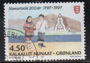 Greenland Sc 324 1997 200th Anniversary Nanortalik stamp used