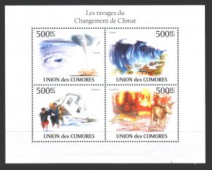 Comoro Islands. 2010. Security tsunami nature flooding fire fauna. MNH.