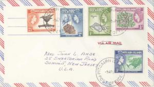 Pitcairn Island Official Free Mail 1959 Pitcairn Island, Post Office Airmail ...