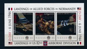 [81040] Nevis 2011 Second World war Landing Normandy Sheet MNH