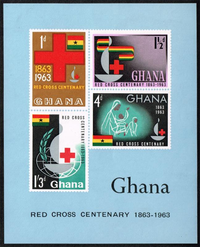 Ghana #142a Red Cross Centennial; MNH (4.25)