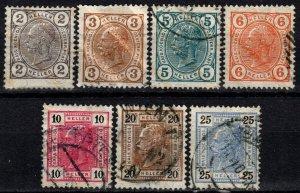 Austria #87a-99a  Used CV $4.00 (X1066)