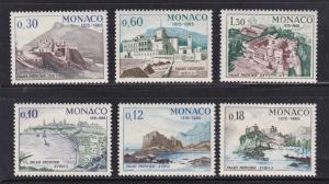 Monaco 618-23, F-VF, MNH