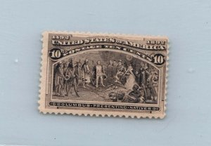 GOLDPATH US STAMP SC# 237 HINGED FINE, CREASE CAT $90 _SBH_02