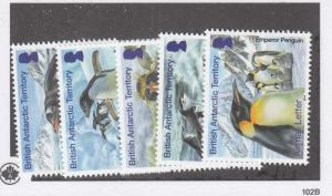 BRITISH ANTARCTIC TERRITORY  VF-MNH  PENGUINS