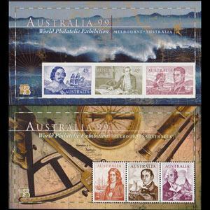 AUSTRALIA 1999 - Scott# 1727-8 S/S Navigators NH
