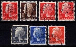Denmark 1974-81 Margrethe II Definitives, Part Set [Used]