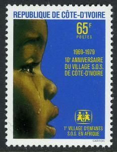 Ivory Coast 505, MI 593, MNH. SOS Village for homeless children, 10th anniv.1979