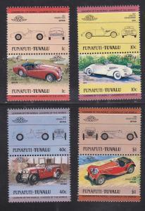 Tuvalu-Funafuti # 25 / 38, Automobile Pairs Mint NH.