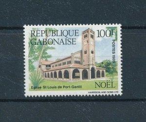 [104729] Gabon 1989 Christmas Weihnachten church  MNH