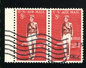 USA #C68   pair   used   VF 1963 PD