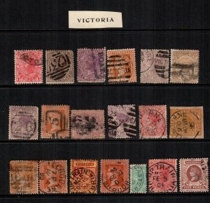 Victoria  19  diff mint  hinged and used