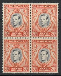 KUT, Sc 74 (SG 139b), MNH block of four