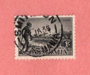 AUS SC #144 1934 Centenary of Victoria w/SON (SMIT[HT]ON [TAS]MANIA / 7 JA 35)