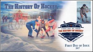 17-339, 2017, History of Hockey, Digital Color Postmark, FDC, Detroit MI