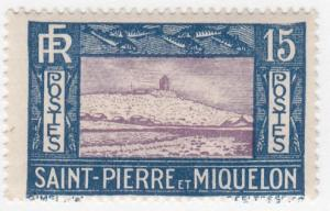 St Pierre & Miquelon, Sc 137, MH, 1932, Lighthouse