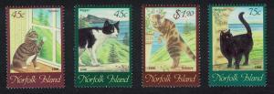 Norfolk Cats 4v SG#658-661 SC#638-641