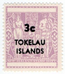 (I.B) New Zealand Revenue : Tokelau Islands Stamp Duty 3c