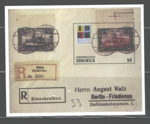 DOMINICA  IBRA 1999-HOHENZOLLERN YACHT  MS#2147 MNH