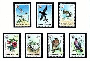 Grenada 849-55 MNH 1978 Wild Birds of Grenada