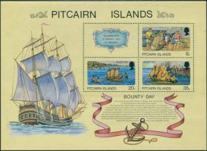 Pitcairn Islands 1978 SG188 Bounty Day MS MNH