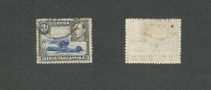 Kenya, Uganda & Tanganyika 1938 3/- Ultramarine & Black Used SG 147ac M / Fault