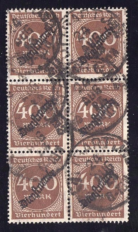 Germany Sc #O27 Used Block of 6
