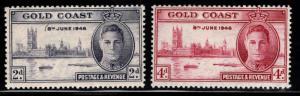 GOLD COAST Scott 128-129 MNH** 1946 Peace set
