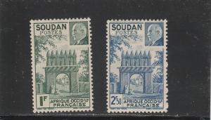 French Sudan  Scott#  118-119  MH  (1941 Marshal Petain)