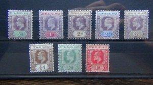 Leeward Islands 1902 values to 6d MM 1907 values to 1d HMM