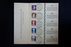 Germany Goethe Stamps 1949 First Day Folder