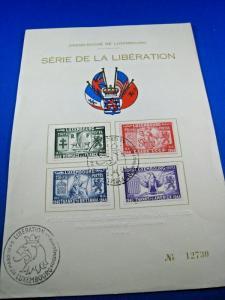 LUXEMBOURG  -  SCOTT # B117-B120  -  LIBERATION S/S  -    FDC       (brig)
