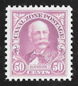 CANAL ZONE 114 50 cents J. Blackburn Stamp Mint OG NH EGRADED VF-XF 86