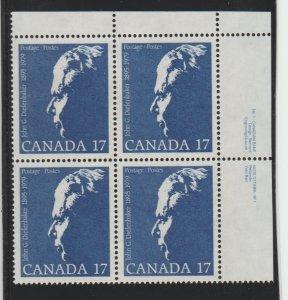 Canada 859 Diefenbaker - MNH - block