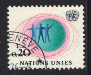 United Nations Geneva #3  1969 cancelled  20c.