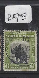 NORTH BORNEO (P0809B)  6C RHINOCEROS JESSELTON VFU