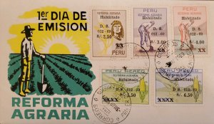O) 1969 PERU, AGRARIAN REFORM LAW, INDIAN AND WHEAT, HAND, CORN AND FIELD, SU...
