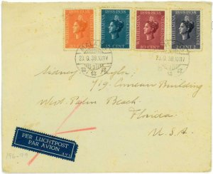 93715 - DUTCH INDIES  - POSTAL HISTORY - Airmail COVER from MALANG  to USA 1938