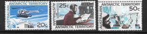 Australia Antarctic Territory #L15-L17    (MNH) CV $15.00