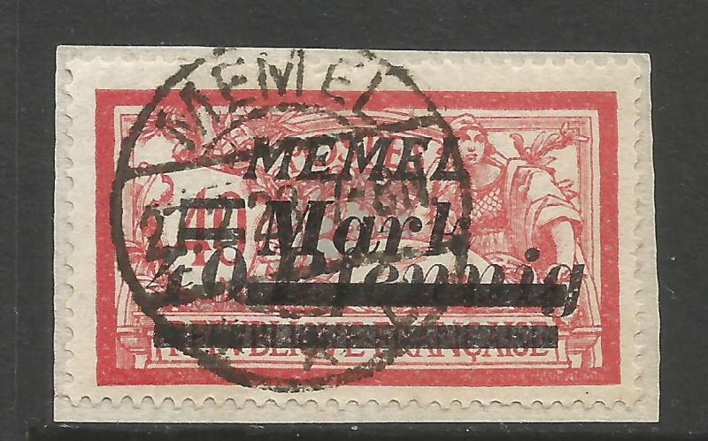 MEMEL 95 VFU ON PIECE A1435