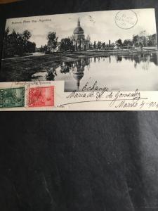 Argentina to Toronto,Canada 1904 - Postcard showing Jardin Zoologity Palermo - F