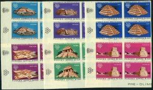 Panama 477-477E imp bl/4,477F var imp,MNH. Olympics Mexico-1968.Indian ruins.